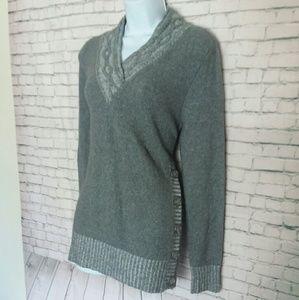 STYLE & CO grey soft v neck sweater
